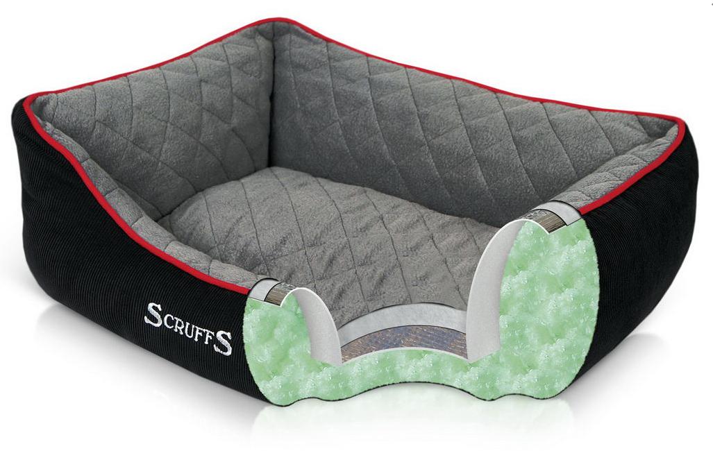 """Лежак для собак с бортиками """"Thermal"""" SCRUFFS , черный"""