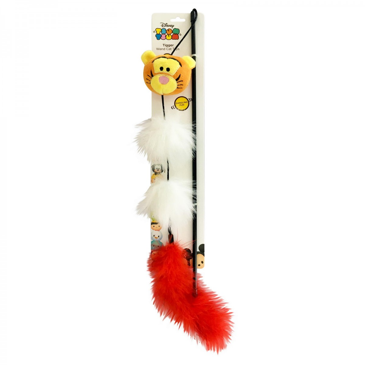 """Игрушка для кошек удочка-дразнилка с кошачьей мятой ROSEWOOD Disney """"Тигра"""", 46см"""