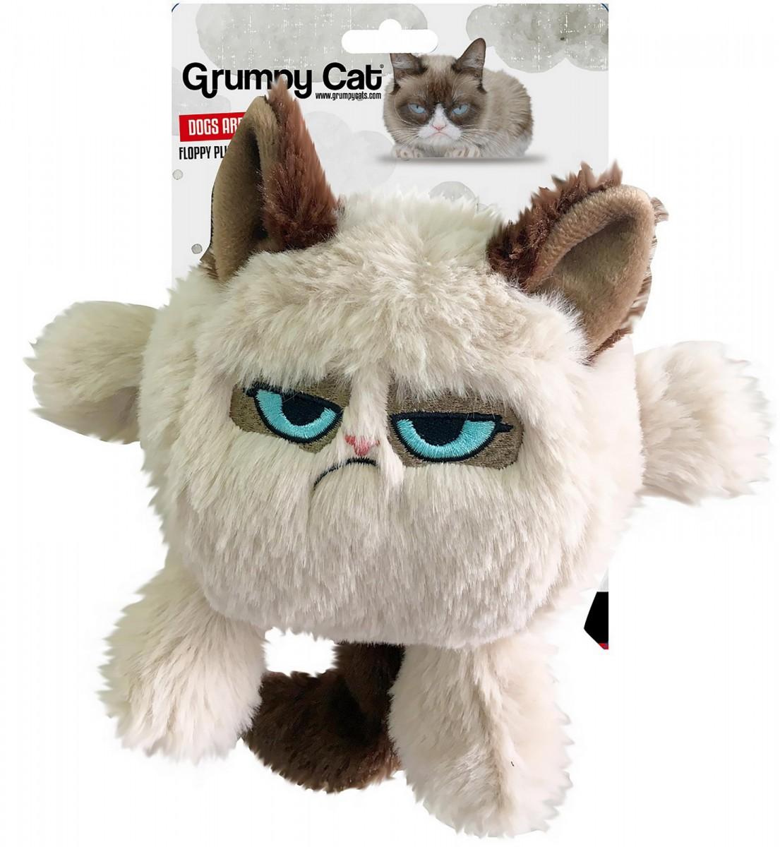 """Игрушка для собак мягкая ROSEWOOD """"Сердитый кот Флюк"""", бежевый, 20х19х10см"""