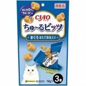 "Лакомства для кошек INABA ""Подушечки с начинкой из японского гребешка"" 12гр*3 пакетика"