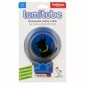 Светящийся ошейник Red Dingo LUMITUBE синий S-M