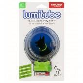 Светящийся ошейник Red Dingo LUMITUBE зеленый S-M