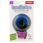 Светящийся ошейник Red Dingo LUMITUBE фиолетовый S-L