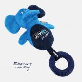 Игрушка для собак JOYSER Puppy Слоник с резиновым кольцом и пищалкой S/M голубой, 21 см (7035J)