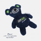 Игрушка для собак JOYSER Puppy Мишка со сменной пищалкой S синий, 15 см (7039J)
