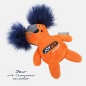 Игрушка для собак JOYSER Puppy Белка со сменной пищалкой S оранжевая, 15 см (7041J)