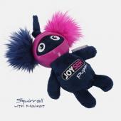 Игрушка для собак JOYSER Puppy Белка в резиновом шлеме с пищалкой S синяя, 14 смшлеме с пищалкой S розовая, 14 см (7043J)