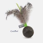 Игрушка для кошек JOYSER Catnip Ball Мячик из спрессованной кошачьей мяты с перьями зеленый, 13 см (7046J)