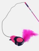 Игрушка для кошек JOYSER Cat Teaser Сменная насадка Птичка со звуковым чипом розовая, 19 см (7065)