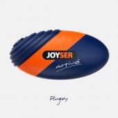 Игрушка для собак JOYSER Active Резиновый мяч регби с пищалкой M синий, 15 см (7069)