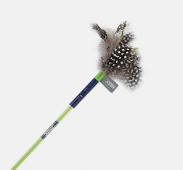 Игрушка для кошек JOYSER Cat Teaser Сменная насадка с перьями для дразнилки на стеке зеленая, 12 см (7064)