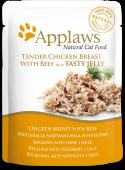 "Паучи для кошек ""Кусочки курицы и говядины в желе"" (Chicken&Beef in Jelly)"