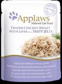 "Паучи для кошек ""Кусочки курицы с печенью в желе"" (Chicken&Liver in Jelly)"