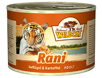 Консервы для кошек WILDCAT Rani (утка, фазан, индейка/батат)