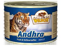 Консервы для кошек WILDCAT Andhra (3 вида рыбы/батат)
