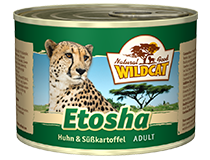 Консервы для кошек WILDCAT Etosha (курица/батат)