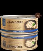Консервы для кошек GRANDORF Куриная грудка с сибасом