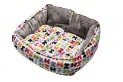 Лежак Trendy Podz Medium Разноцветные косточки RPM03