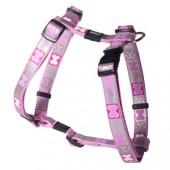 Шлейка ROGZ - Reflecto, светоотражающая, розовая, M (SJ243X)