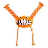 """Игрушка с принтом """"зубы"""" и пищалкой ROGZ оранжевая"""