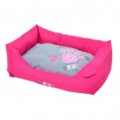 Лежак Spice Pod Medium Розовый с серым PPMCА