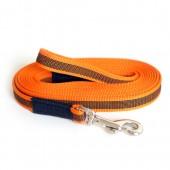 Поводок прорезиненный оранжевый ZOOMASTER 20мм