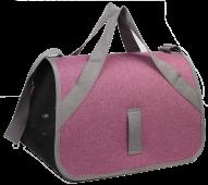 Сумка-переноска АСИНДО TENERIFE M, цвет - серый с лиловым, 47*33*31 см