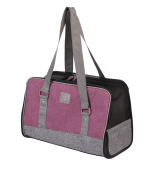 Сумка-переноска АСИНДО JAMAICA M, цвет - серый с лиловым, 41*21*28 см