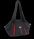 Сумка-переноска АСИНДО SHIRLEY, черная с красной отделкой, 28*19*28см