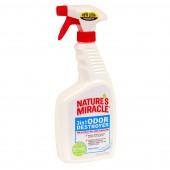 Спрей для уничтожения запахов животных Nature`s Miracle 3 in 1 ODOR Destroyer - Fresh Linen Scent, с запахом свежего белья, 709мл