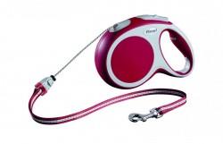 Рулетка-трос FLEXI VARIO S для собак весом до 12 кг, 8 м, красная