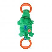 Игрушка для собак GIGWI Крокодил на веревке с пищалкой, 50см (75461)