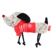 Игрушка для собак GIGWI Собачка с пищалкой, 25см (75466)