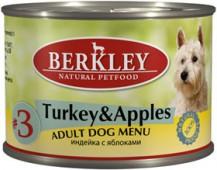 """Консервы для собак №3 """"Индейка с яблоками"""" (Adult Turkey&Apples)"""