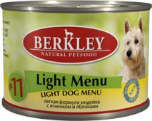 """Консервы для собак №11 лёгкая формула """"Индейка с ягненком и яблоками"""" (Adult Light Menu)"""