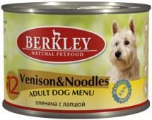 """Консервы для собак №12 """"Оленина с лапшой"""" (Adult Venison&Noodles)"""