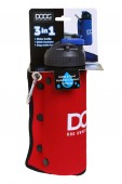 Комплект дорожный для собак DOOG (бутылка 600 мл.+ миска), красная (BB3IN1R)