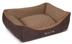 """Лежак для собак с бортиками """"Thermal"""" SCRUFFS, коричневый"""