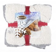 "Одеяло для кошек и собак ""Winter Snuggle"" SCRUFFS, серо-белое"
