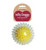 Игрушка для собак резиновая ROSEWOOD Jolly Doggy Мяч жёлтый 2 в 1 (38300/RW)