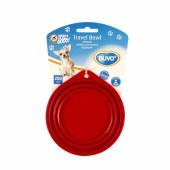 Миска для животных складная силиконовая DUVO+ красная