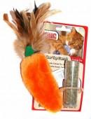 """Игрушка для кошек KONG """"Морковь"""" с кошачьей мятой, 20см"""
