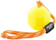 Игрушка для собак К-9 Мяч с ручкой, силикон флуоресцентный, 6 см