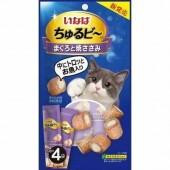 """Лакомства для кошек INABA """"Запеченные трубочки с начинкой куриное филе и желтоперый тунец"""" 10гр*4пакетика"""