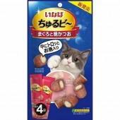 """Лакомства для кошек INABA """"Запеченные трубочки с начинкой тунец-бонито"""" 10гр*4пакетика"""