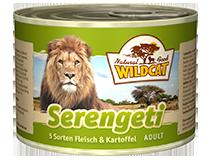 Консервы для кошек WILDCAT Serengeti (5 видов мяса/батат)