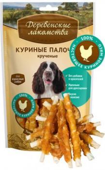 Деревенские лакомства для собак - Куриные палочки крученые, 90г