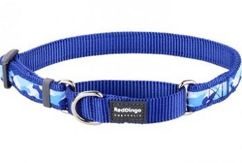 Ошейник-полуудавка синий Camouflage 25мм*41-62см