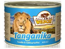 SALE! Консервы для кошек WILDCAT Tanganika (форель/батат)