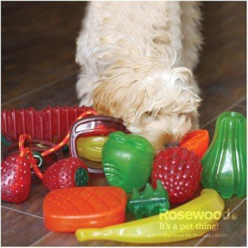 Игрушка для собак Rosewood BioSafe Fruits Toy Малина, 11см